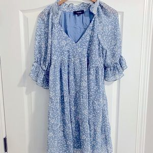 Never Worn Blue Aakaa Dress from Vici Boutique